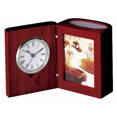 Подставка настольная (часы, фоторамка), красное дерево