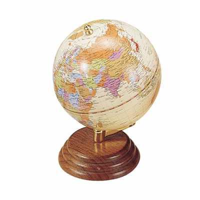 Глобус настольный диаметр 95мм, орех