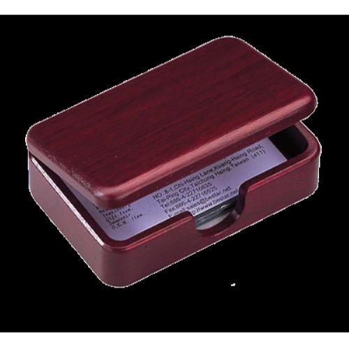Деревянный контейнер для визиток, красное дерево
