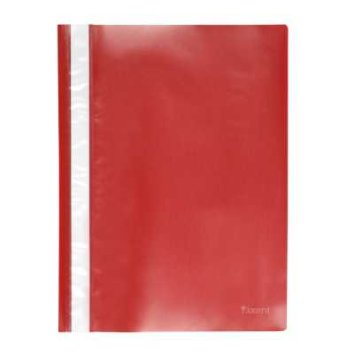 Скоросшиватель пластиковый  Axent A4, красный