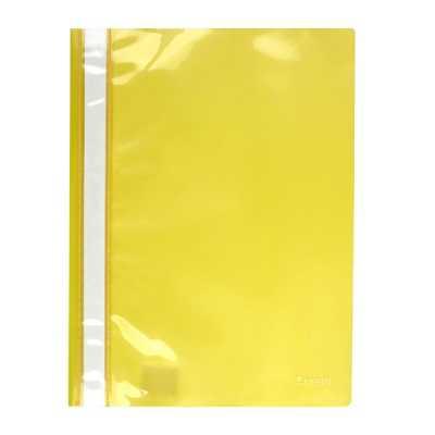 Скоросшиватель пластиковый  Axent A4, желтый