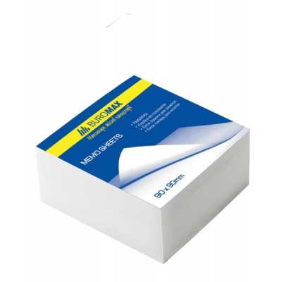 Блок бумаги для записей 80х80х50мм склеенный