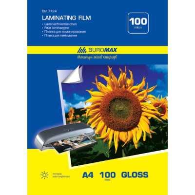 Плівка для ламінування 100мкм, 216x303мм - A4, 100шт. (BM.7724)