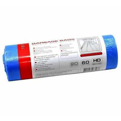 Пакеты для мусора 60л 20шт. PRO service, синие