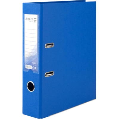 Регистратор односторонний Axent А4/7,5 см, голубой