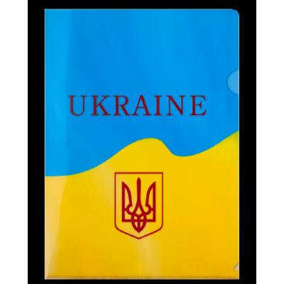 Папка-уголок 180мкм А4 UKRAINE