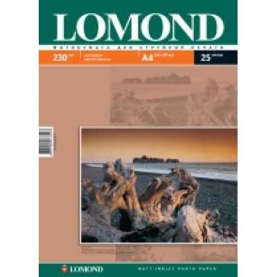 Фотобумага Lomond А4 230 г/м2 матовая 25л.
