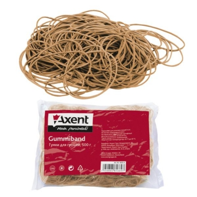 Резинки для денег Axent 4632-A натуральные, 500 г