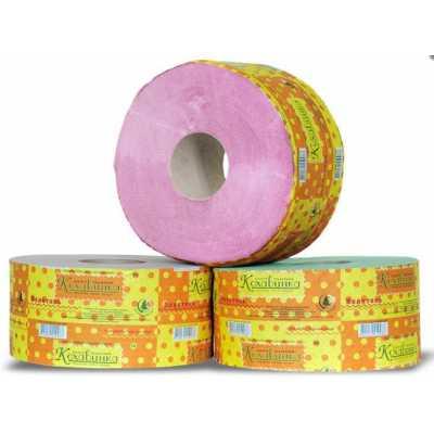 Бумага туалетная D 19см, 1 слой, 8рул. розовая