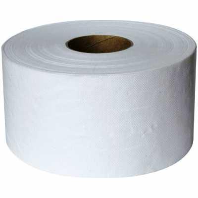 Бумага туалетная D 19см, 1 слой, 12рул. белая