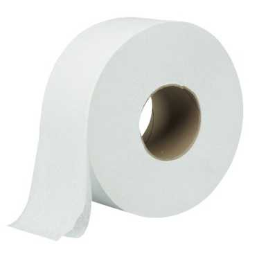 Бумага туалетная D 19см, 2 слоя, 12рул. белая