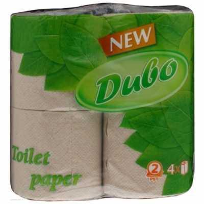 Папір туалетний Диво макулатурна, 2 шари, 4рул. сірий