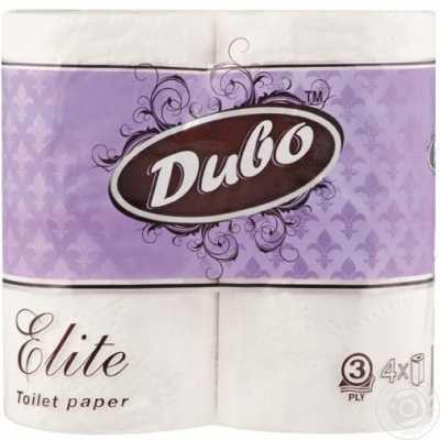 Бумага туалетная Диво Elite, 3 слоя, 4рул. белая