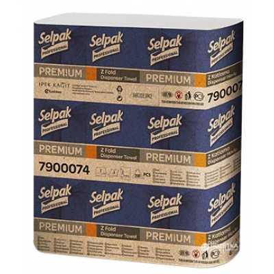 Рушники паперові Selpack Premium 2 шари 200шт.