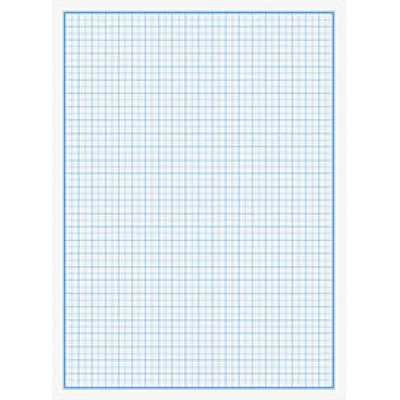 Бумага миллиметровая А4 10 листов 80г/м2