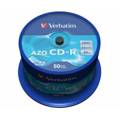 Диск Verbatim CD-R 700MB 52х 80min Cake 50