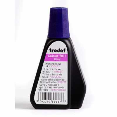 Штемпельная краска Trodat 7011 28мл, фиолетовая