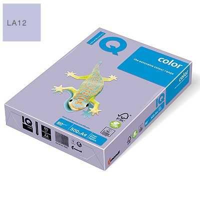 Бумага цветная IQ Color, А4/80, 500л. LA12, лиловый