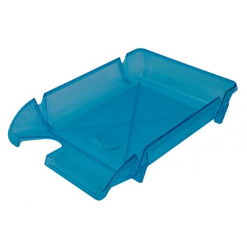 Лоток для бумаг Компакт горизонтальный, голубой (80605)