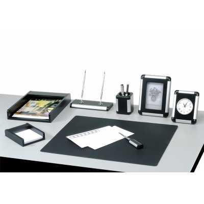 Набор настольный 8 предметов, черно-серебряный (8146FDB)