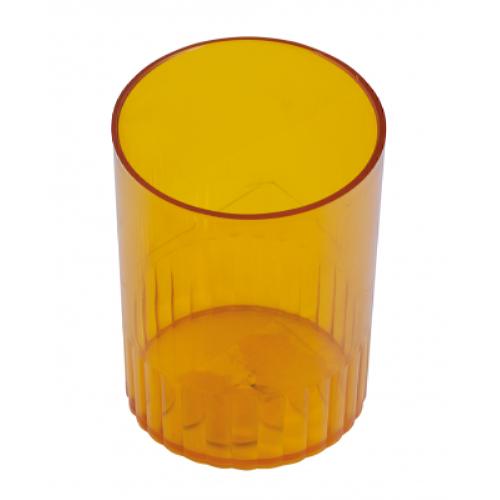 Стакан для ручек пластмассовый лимонный (81878)