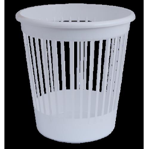 Кошик для паперів пластмасовий 10л, білий