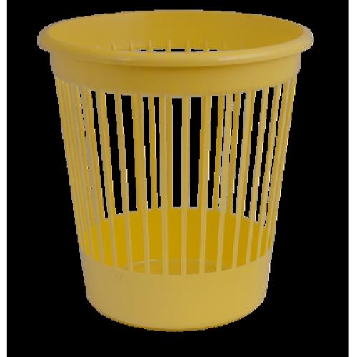 Кошик для паперів пластмасовий 10л, жовтий