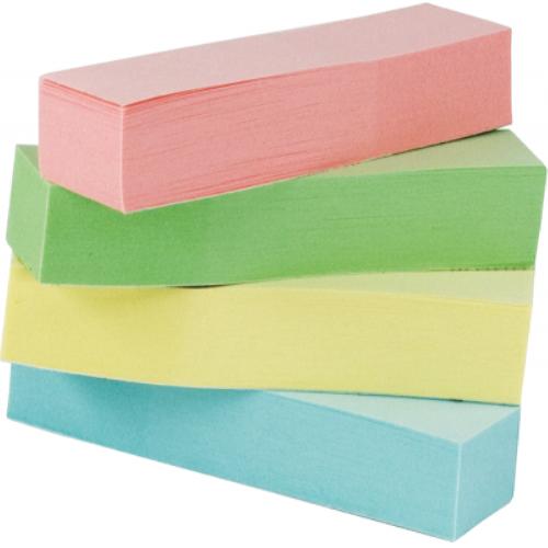 Закладки паперові з клейким шаром BuroMax (4 кольори по 100 шт.)