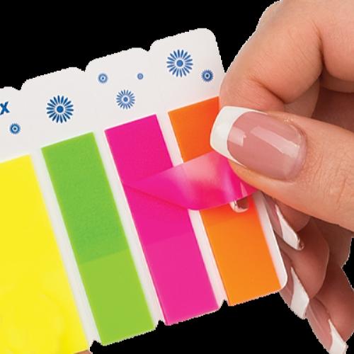 Закладки пластиковые с клейким слоем BuroMax (4 цветов x 40 шт.)
