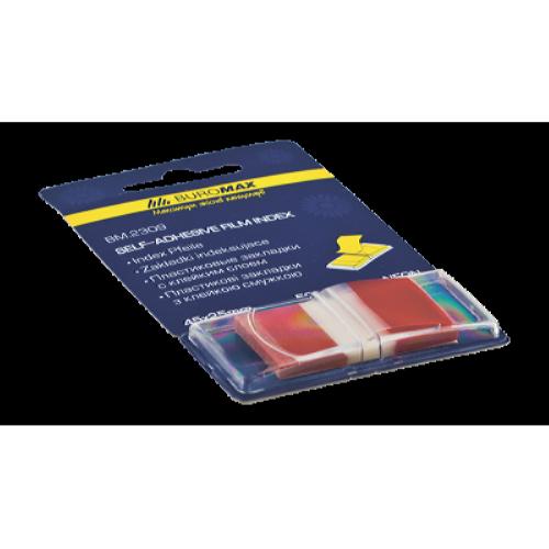 Закладки пластиковые с клейким слоем в диспенсере BuroMax (50 шт.) (BM.2309-05)
