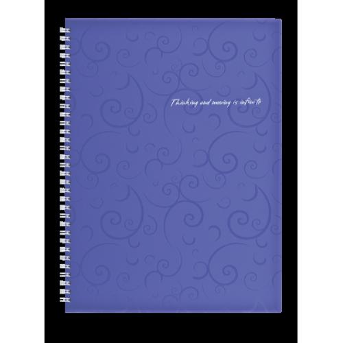 Тетрадь Barocco А4 80 листов, фиолетовый