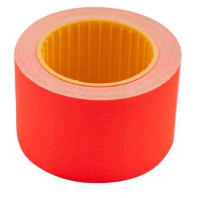 Ценник 35 * 25мм (240шт, 6м), прямоугольный, внешняя намотка, красный