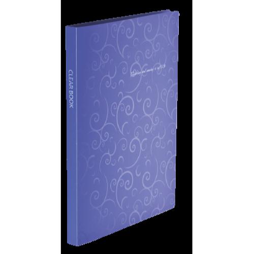 Папка пластикова А4 Barocco 20 файлів, фіолетова