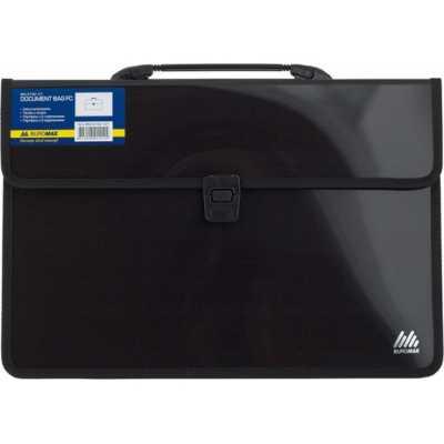Портфель пластиковый 2 отделения BM.3732-01, черный
