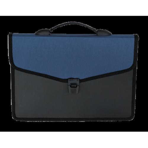 Портфель пластиковий 3 відділення BM.3734-02, синій