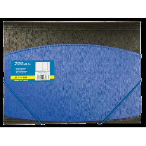 Папка на резинках А4 пластиковая BM.3910-02, синяя
