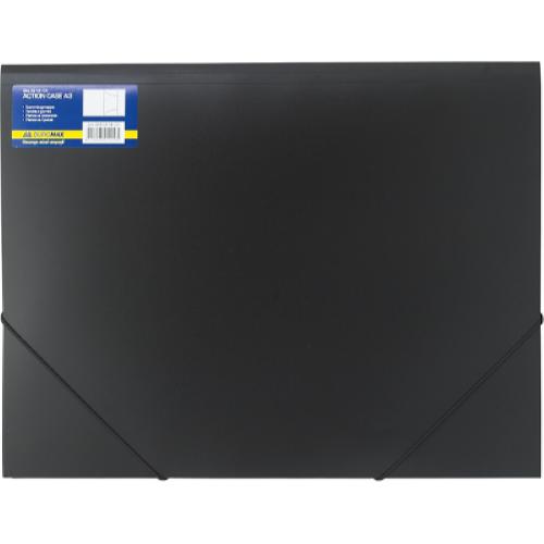 Папка на резинках А3 Professional пластиковая , черная