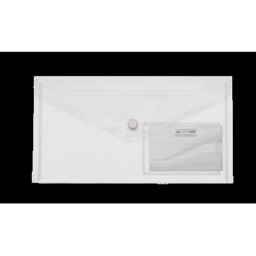 Папка-конверт на кнопці DL Travel BM.3938-00, прозора