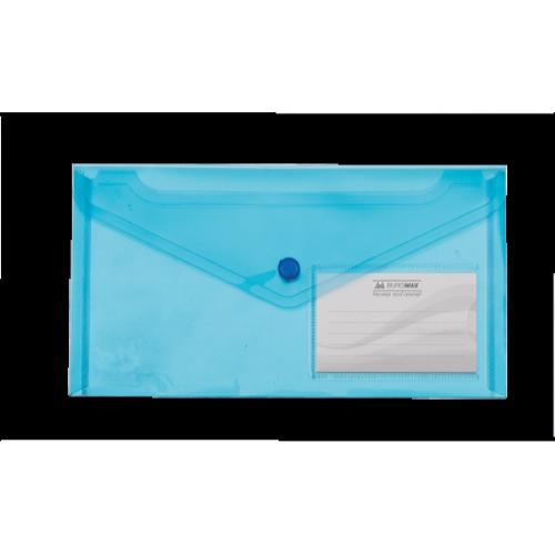 Папка-конверт на кнопке DL Travel BM.3938-02, синяя