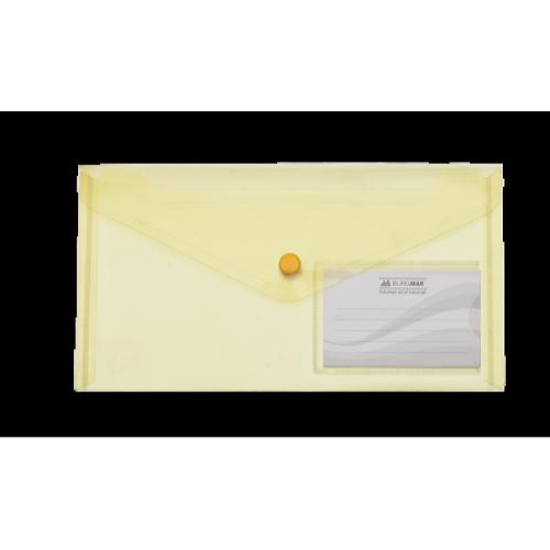 Папка-конверт на кнопке DL Travel BM.3938-08, желтая