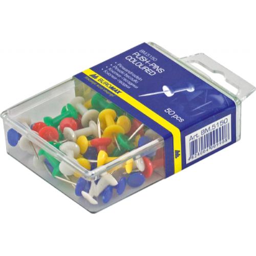 Кнопки-гвоздики цветные 50 шт.