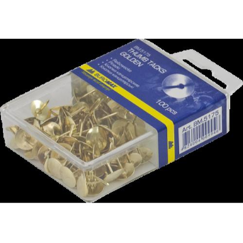 Кнопки золотисті 100 шт. (BM.5175)