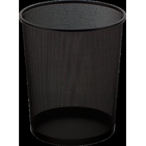 Корзина для бумаг 295x295x345мм, металлическая, черная