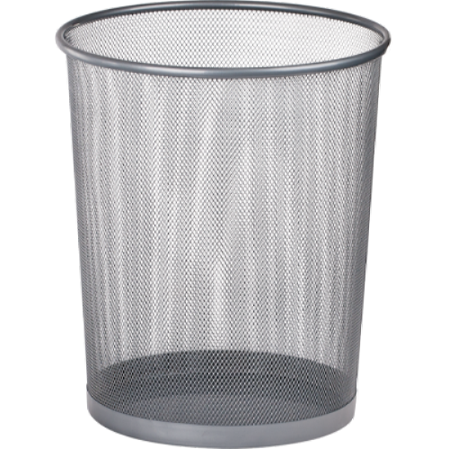 Кошик для паперів круглий 295x295x345мм, металевий, срібло