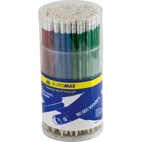 Олівець графітовий з гумкою BM.8507 Buromax
