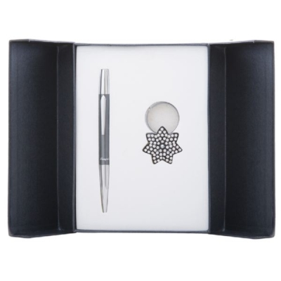 Набор Langres Star: ручка + брелок, черный