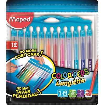 Фломастеры COLOR PEPS LONG LIFE Innovation, 12 цветов