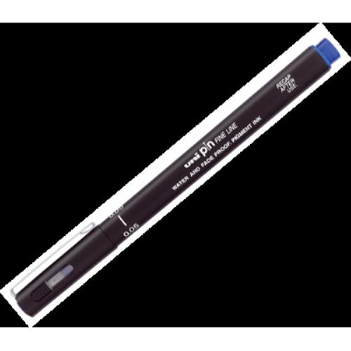 Лайнер UNI pin Fine Line товщина лінії 0,1 мм синій