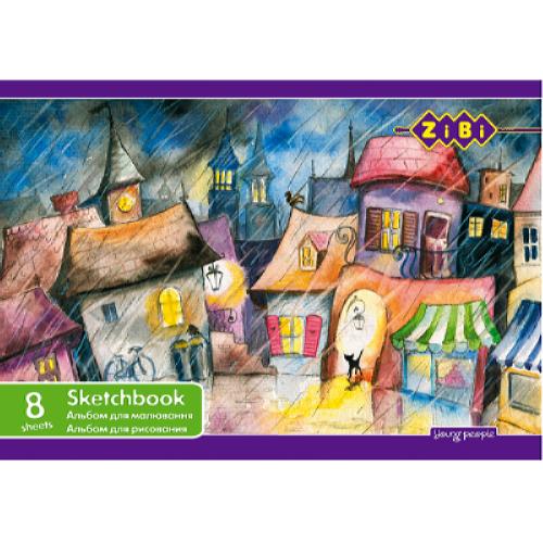 Альбом для рисования 8 листов ZiBi