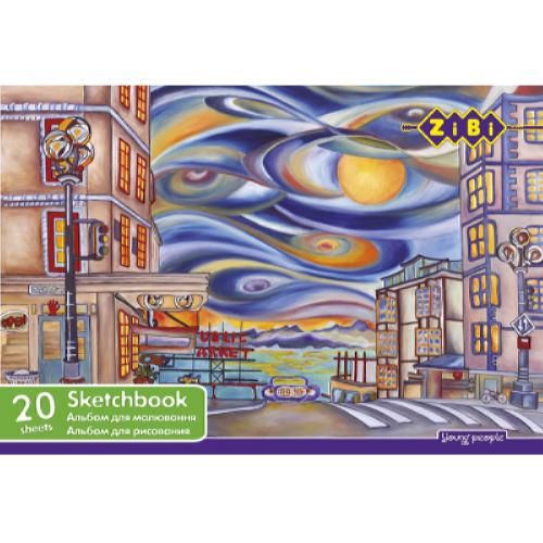 Альбом для малювання 20 аркушів ZiBi ZB.1440
